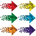 Multi colored arrows to indicate vector illustration Royalty Free Stock Photography