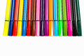 Multi-colored ball pens background
