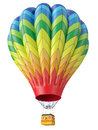 Multi-colored balloon Stock Images