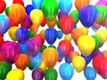 Multi-colored balloons 3D