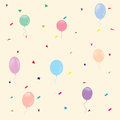 Multi-colored balloons. seamless pattern, vector illustration