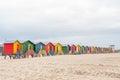 Multi-colored Beach Huts At Mu...