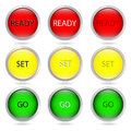 Multi colored buttons from metal Royalty Free Stock Photography