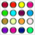 Multi colored buttons from metal Royalty Free Stock Images