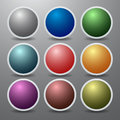 Multi colored buttons nine from neon Royalty Free Stock Image