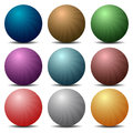 Multi colored buttons nine from neon Stock Images