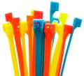 Multi colored cable ties Royalty Free Stock Photos