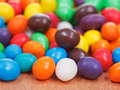Multi colored chocolate candy dragees many close up Stock Photography