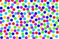 multi-colored circles on a white background