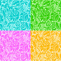 Multi colored contours seamless pattern background with of various plants vector illustration Royalty Free Stock Photo
