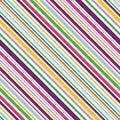 Multi colored diagonal stripes seamless pattern background.