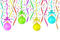 The multi-colored dull christmas balls hanging Stock Image