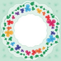Multi-colored Flowers Framework