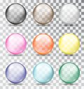 Multi-colored glass balls. Vector illustration. Royalty Free Stock Photo