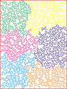 Multi-colored Jigsaw Puzzle Pattern Stock Photos