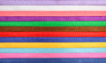 Multi colored ribbon background of the ribbons Stock Photography