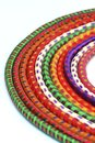 Multi-colored  rock climbing ropes in bundles Royalty Free Stock Photos