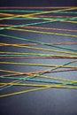 Multi-colored rubberbands