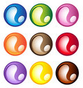 Multi-colored spherical buttons Stock Photography