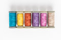 Multi-colored threads Royalty Free Stock Photo