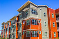 Multi Colored Three Story Building Royalty Free Stock Photo