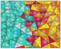 Multi Colored Triangles.  Colo...