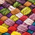 Multi colored woollen yarns Royalty Free Stock Image