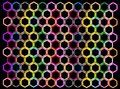 Multi Colors of Hexagon on Black Background Royalty Free Stock Images