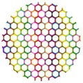 Multi Colors of Hexagon on Circle Background Stock Photography