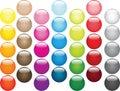 Multi-coloured balls' set Stock Photo