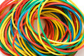Multi-coloured elastic bands Stock Photos