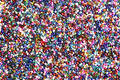 Multi-coloured seed beads Royalty Free Stock Photography