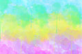 Multi coloured spot watercolour abstract background horizontal picture Royalty Free Stock Photography