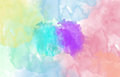 Multi coloured spot watercolour abstract background horizontal picture Stock Images