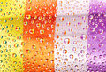 Multi-coloured striped drops Royalty Free Stock Images