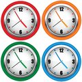 Multi-coloured wall clock Stock Photo