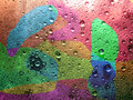 Multi-coloured water drop for background Royalty Free Stock Photo