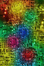 Multi Colours Abstract Electronic Circuit Background Royalty Free Stock Photo
