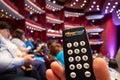 Multi Digit Audience Voting Keypads Royalty Free Stock Photo