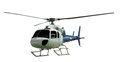 Multi-engine helicopter with working propeller Royalty Free Stock Photo
