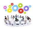 Multi ethnic business cooperation discussion meeting concept Royalty Free Stock Photos