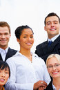 Multi-ethnic business group Stock Image