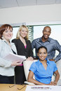 Multi Ethnic Business People Smiling Together Royalty Free Stock Photos