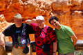 Multi-ethnic family in Bryce Canyon National Park Royalty Free Stock Photos