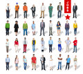 Multi ethnic group of people and diversity in careers Stock Photos