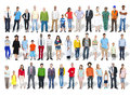 Multi-Ethnic Group of People and Diversity in Careers Royalty Free Stock Photo