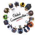 Multi ethnic group of people and global communications concept Royalty Free Stock Photography