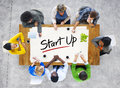 Multi-Ethnic Group of People and Startup Business Concept Royalty Free Stock Photo
