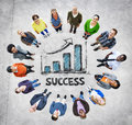 Multi ethnic group of people and success concepts Stock Photo