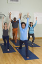 Multi Ethnic People Exercising Stock Photography